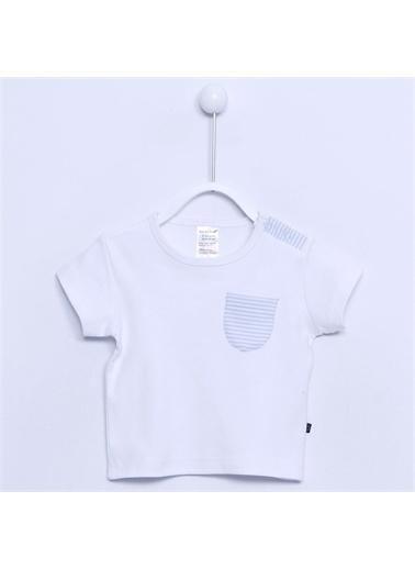 Silversun Kids Bebek Erkek - Tişört - NB 30028 Beyaz